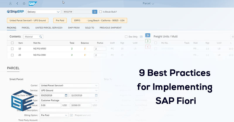 best practices for implementing Shiperp fiori-1
