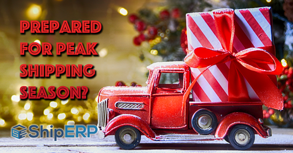 A truck with a big holiday gift is going to deliver it soon.