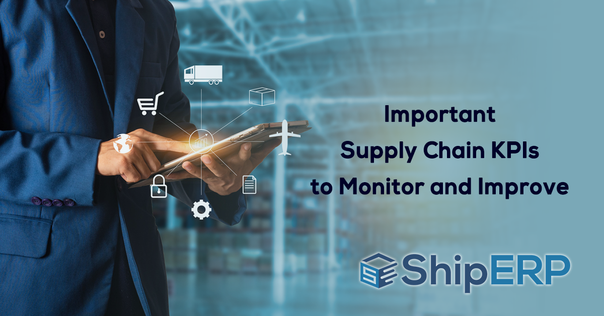 Important Supply Chain KPIs to Monitor and Improve Social Media Graphic
